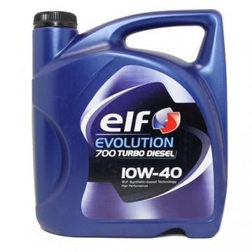 Полусинтетическое моторное масло Elf evolution 700 turbo diesel 10w-40 5л