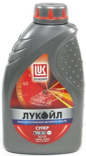 Полусинтетическое моторное масло Lukoil Super 10w-40 4l 1л