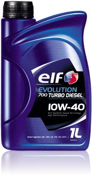 Полусинтетическое моторное масло Elf evolution 700 turbo diesel 10w-40 1л