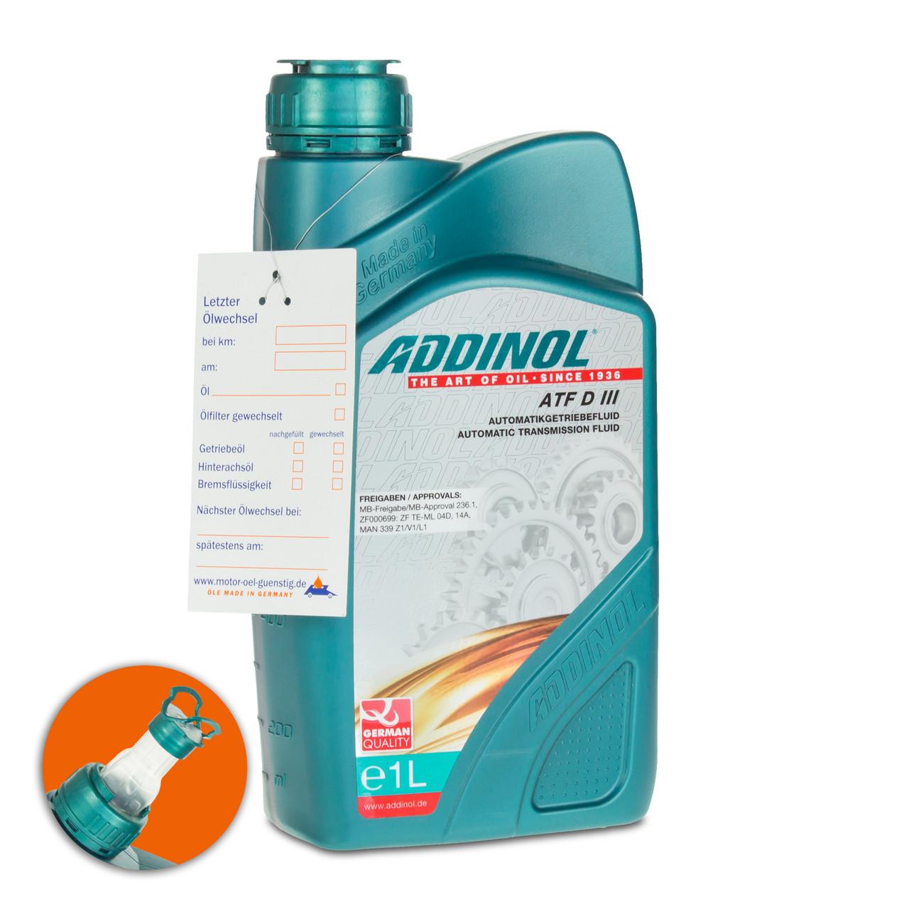 Масло трансмиссионное Addinol ATF D III 1L