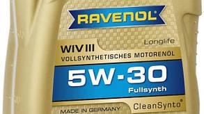 Синтетическое моторное масло Ravenol WIV III SAE 5w-30 4л