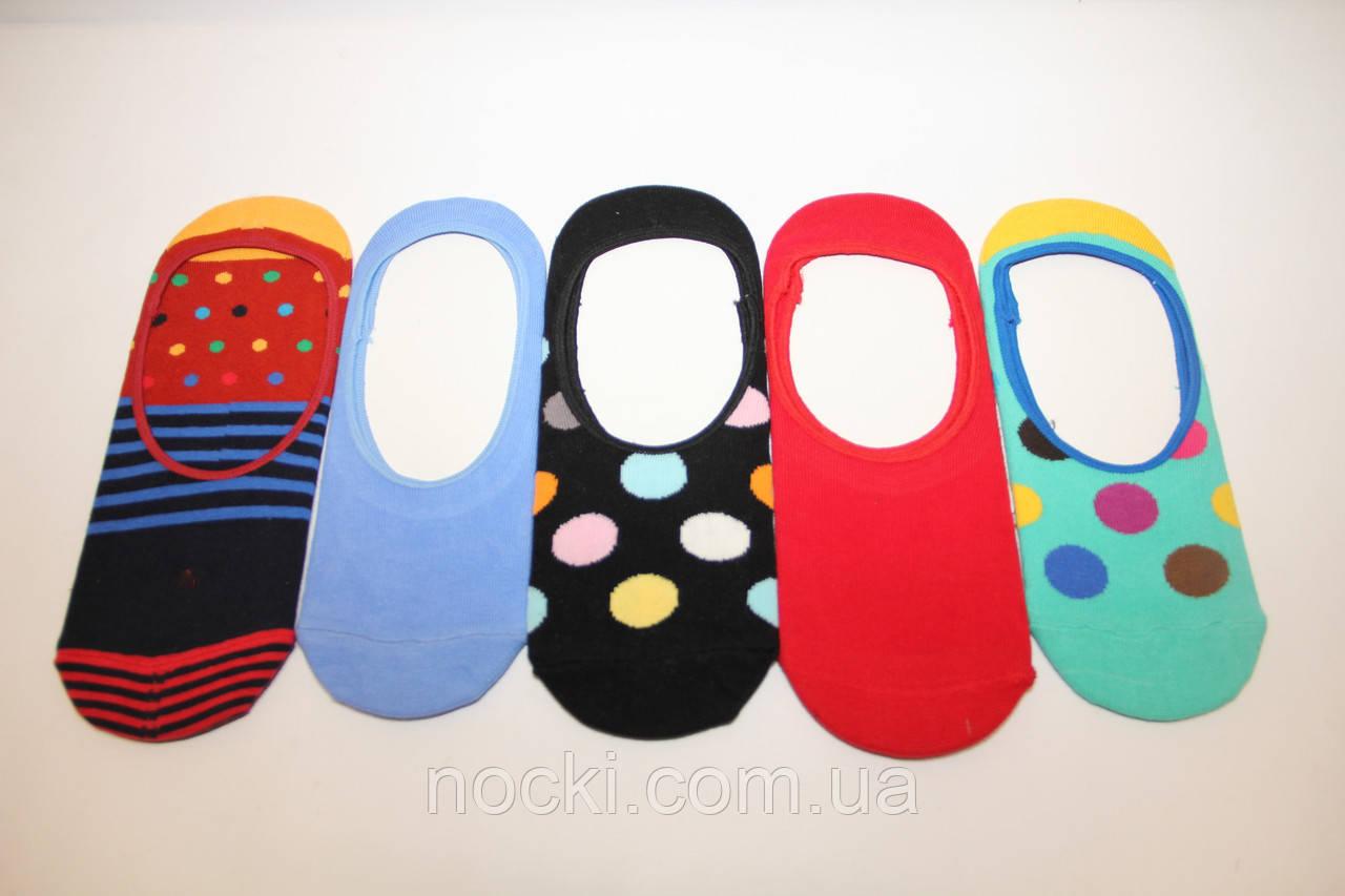 Следы цветные хлопковые с силиконом