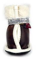 Ботинки Pet Fashion утепленные с украшением для собак 2
