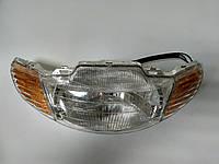 Фара в сборе (+ патроны + лампочки) Honda Dio (Mototech Тайвань)