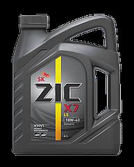 Полусинтетическое моторное масло Zic X7 10w-40 4л 4л