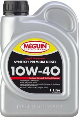 Полусинтетическое моторное масло MEGUIN megol motorenoel Syntech Premium DIESEL SAE 10W-40 5L 1л
