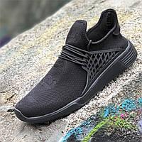 Мужские летние кроссовки черные, легкая подошва пенка удобные, практичные на лето весну (Код: Ш1383)