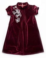 Детское нарядное платье для девочки из бархата 4-8 лет
