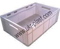 Пластиковые ящики для заморозки рыбы 600 x 400 x 190 Ровно