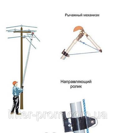 Приспособление для обрезки проводов ВЛ 0,4 кВ с земли ПРЛ-0,4-1, фото 2