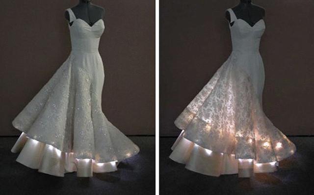 Свадебное платье со светодиодами
