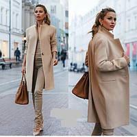 Пальто женское кашемировое на подкладке, фото 1