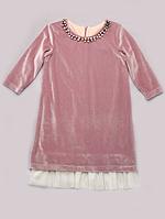 Платье нарядное из бархата для девочки 6-10 лет