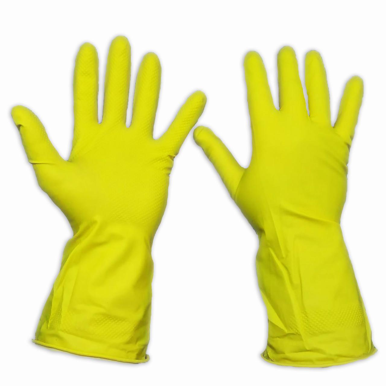 Перчатки для уборки латексные, прочные, Household Gloves, размер — L