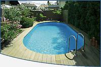 Овальный сборной бассейн серии TOSCANA размер 700х350х120см