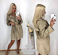 Пальто женское замшевое , фото 1