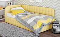 Кровать мягкая с подъемным механизмом Флора 100