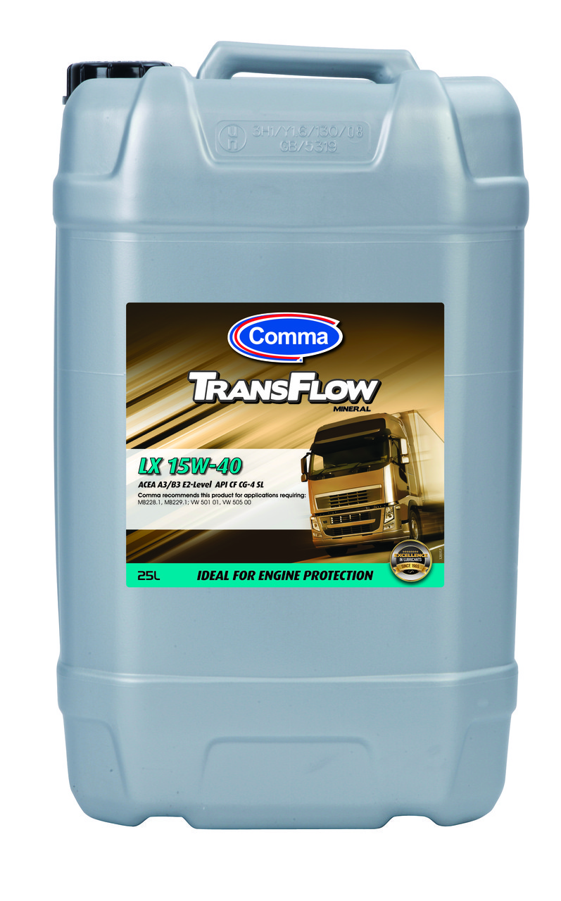 Минеральное моторное масло Comma TransFlow 15w-40 LX