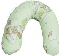 Подушка для беременных и кормления ребенка Womar (полистироловые шарики) , хлопок (164 х 70 см)