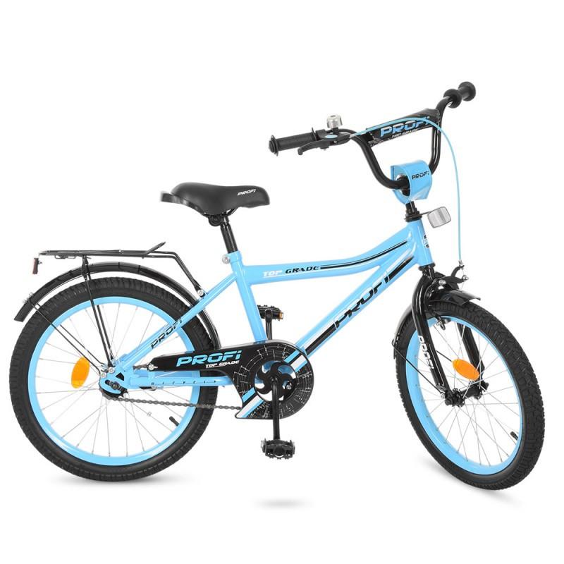 Детский двухколесный велосипед голубой PROFI 20 дюймов, Y20104 Top Grade