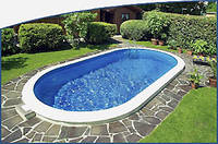 Овальный сборной бассейн серии TOSCANA размер 1000х416х120см