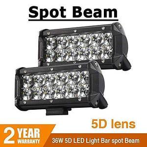 Автомобильная фара LED на крышу (12 LED) 5D-36W-spot