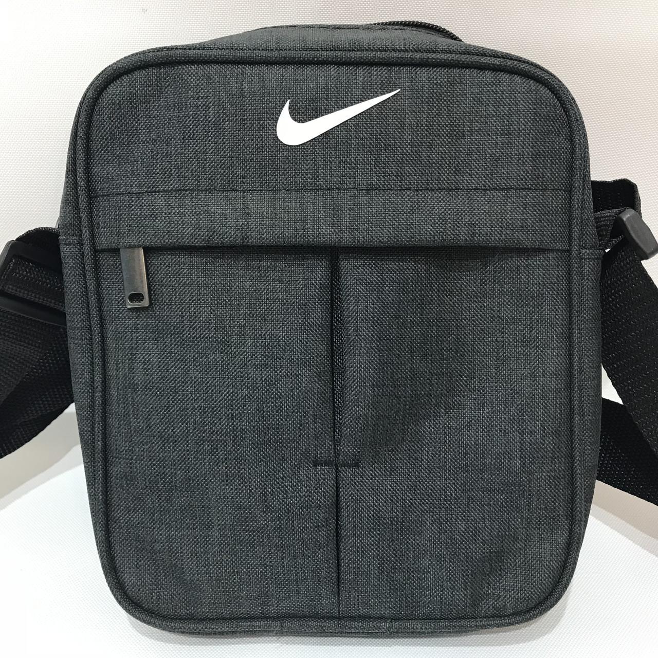 Сумка спортивная мужская Nike / серая