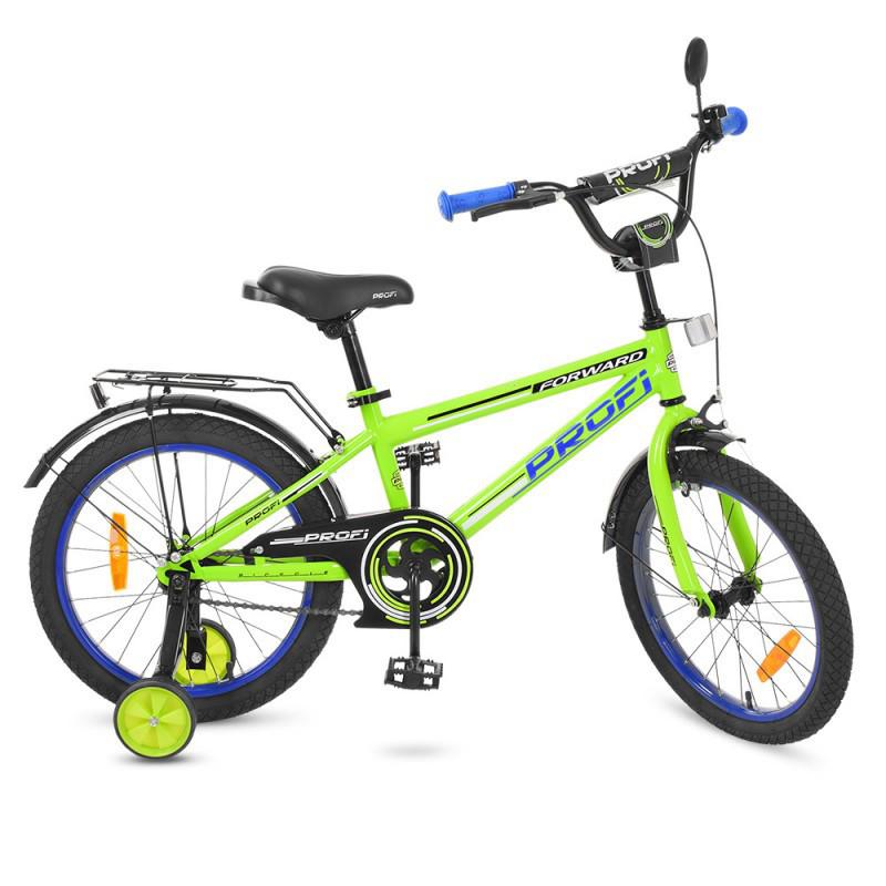 Детский двухколесный велосипед PROFI 18 дюймов Forward, салатовый T1872