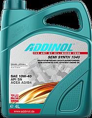 Полусинтетическое моторное масло Addinol Semi Synth 1040 Sae 10w40 4L 4л