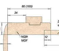 Коробка МДФ 80мм