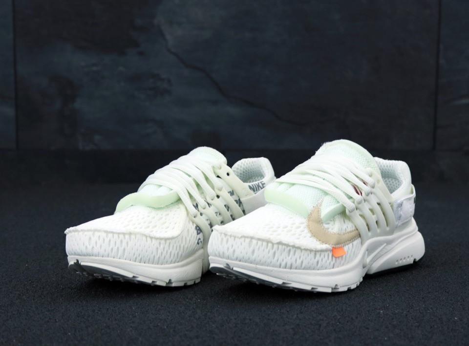 9c5dbc73 Мужские кроссовки Nike Air Presto OFF-White Найк Аир Престо офф вайт  (реплика)