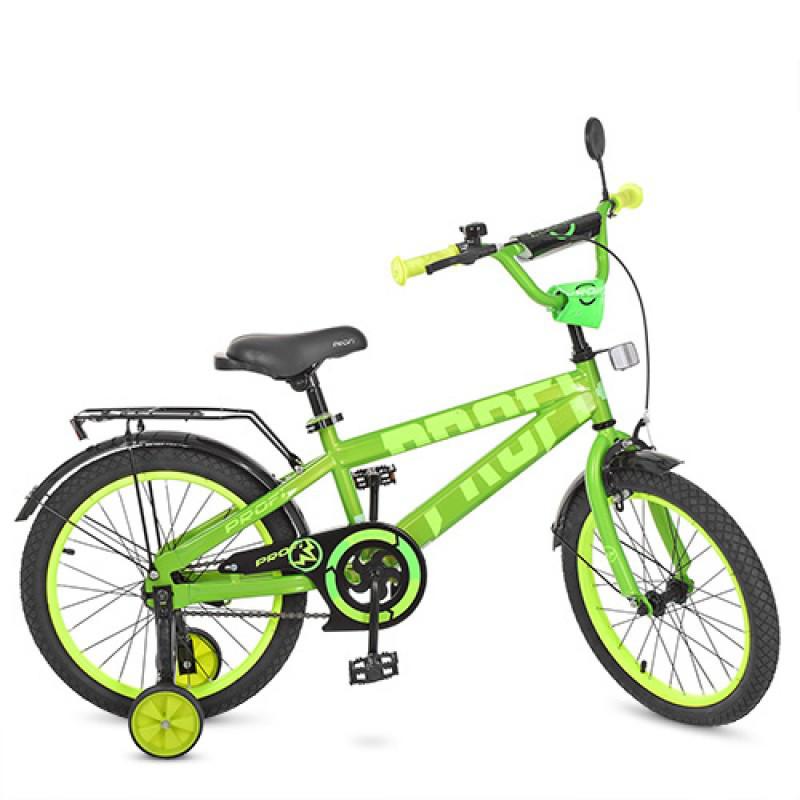 Детский двухколесный велосипед PROFI 18 дюймов Flash, салатовый T18173