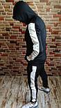 Костюм мужской спортивный утепленный с лампасами 3 цвета, фото 3