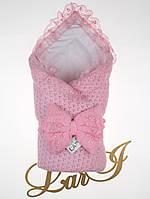 """Демисезонный конверт-одеяло с уголком """"Сказка"""" розовый, фото 1"""
