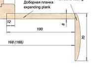 Доборная доска МДФ 100мм