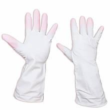 """Хозяйственные перчатки латексные, прочные, универсальные """"Дельфин"""", размер М"""