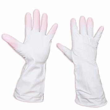 """Хозяйственные перчатки латексные, прочные, универсальные """"Дельфин"""", размер М, фото 2"""
