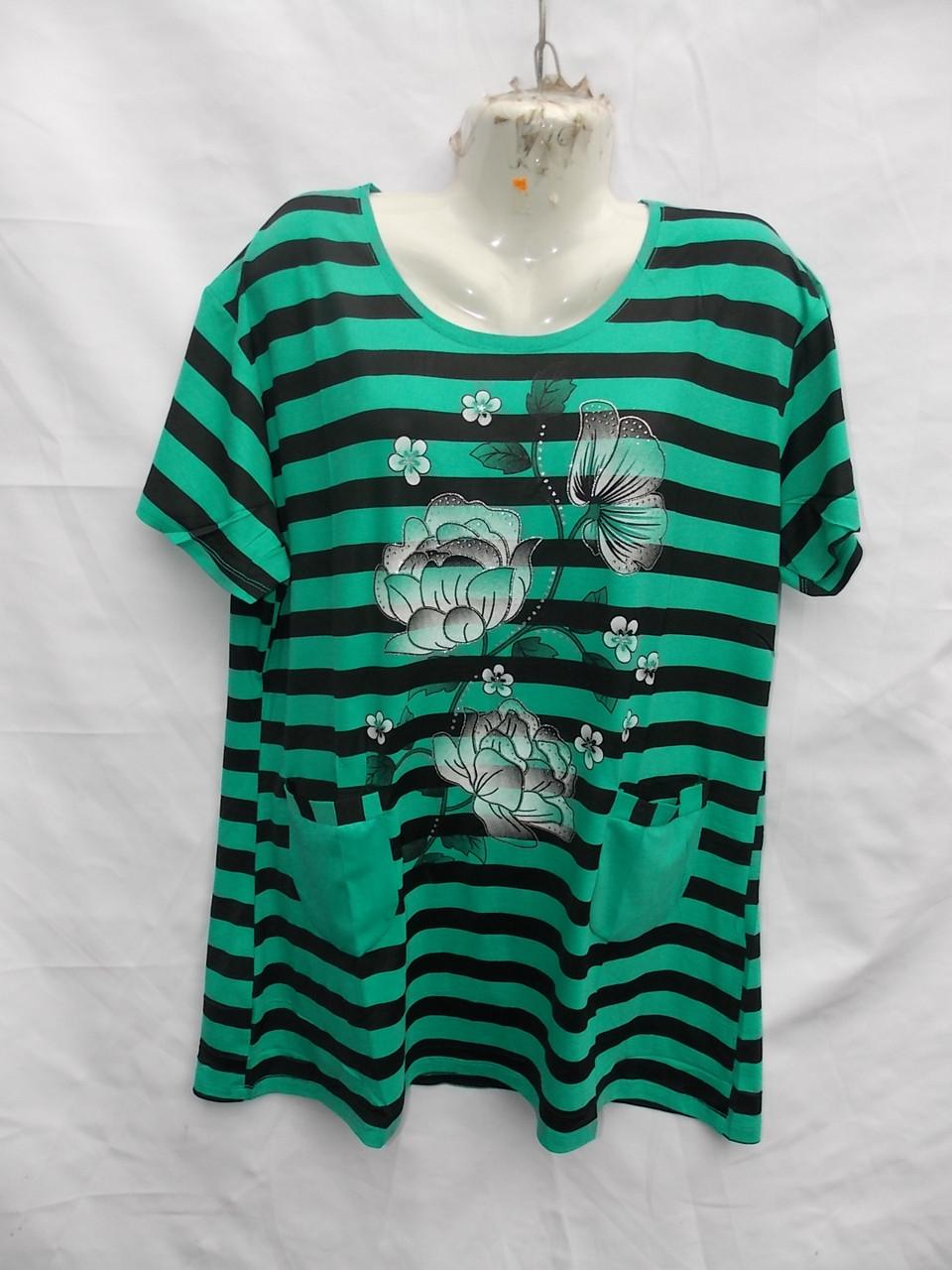 Женская котоновая футболка Батал (в уп. 5 расцветок) пр-ва Вьетнам оптом в Одессе.
