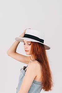 Шляпа федора Мирка белая