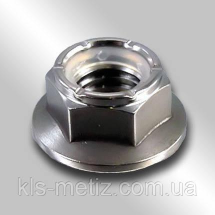 DIN 6926 Гайка шестигранная с фланцем, самоконтрящаяся от М 3 до М 48, фото 2