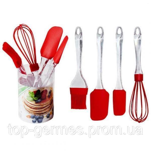 Кухонный набор в пластиковой колбе  из 4предметов