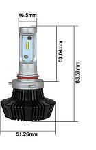 Світлодіодна лампа цоколь H8, GSP Samsung 6000К, 9000 lm 45W, 9-36В