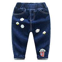 Мягкие джинсы с изображением попкорна , очень теплые!, код (38022)