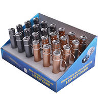 Мини-фонарик с оптической линзой 870-см, брелок на ключи, 24 шт., цена за единицу, питание от батареек lr44