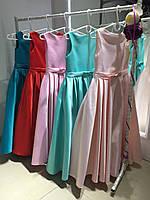 """Біле випускне атласне плаття для дівчинки """"Стефанія"""", фото 1"""