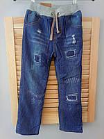 Утепленные детские джинсы на зиму, код (37981)