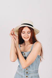 Шляпа федора Мирка молочная