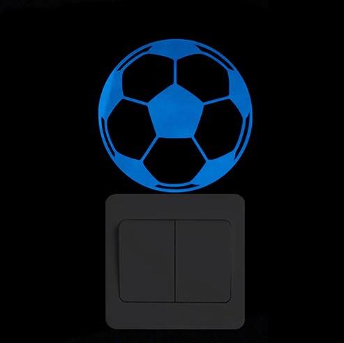 """Наклейка люминесцентная """"Мяч"""" - размер 10*10см, (впитывает свет и светится в темноте)"""