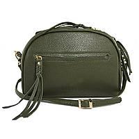 Женская кожаная сумка зеленая, фото 1