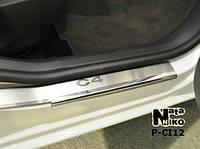 Накладки на пороги Premium Citroen C4  II 2011-, фото 1